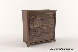Комод 3 4 ящика - Мебельная фабрика «Каприз»