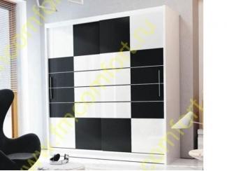 Черно-белый шкаф Нова - Мебельная фабрика «Комфорт»
