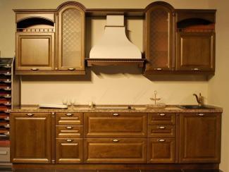 Кухонный гарнитур Ясень цвет бренер орех-патина золото 2