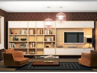 Гостиная стенка 064 - Мебельная фабрика «Mr.Doors»