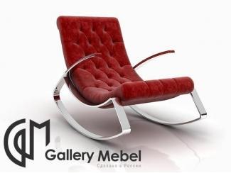 Красное кресло-качалка - Мебельная фабрика «Галерея Мебели GM»