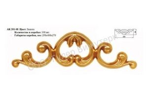 Декоративная накладка АК201-08 - Оптовый поставщик комплектующих «ГУЛЕР БИЖУТЕРИ»