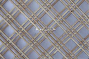 Декоративная решетка бук ячейка 70х70 мм 3-ая 2000х500х10 - Оптовый поставщик комплектующих «АЗКО»