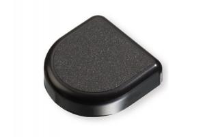 Декоративная заглушка D-образная черная - Оптовый поставщик комплектующих «СЛОРОС»