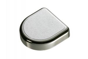 Декоративная заглушка D-образная матовый хром - Оптовый поставщик комплектующих «СЛОРОС»