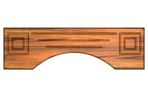 Декоративные элементы для шпонированных и деревянных фасадов Кокошник - Оптовый поставщик комплектующих «Сибирские мебельные фасады»