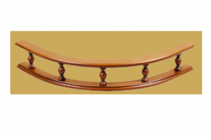 Декоративный элемент Premium Балюстрада деревянная Радисусная - Оптовый поставщик комплектующих «Версаль»