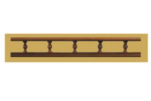 Декоративный элемент Premium Балюстрада деревянная Прямая - Оптовый поставщик комплектующих «Версаль»