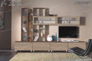 Гостиная прямая Дельта 3 - Мебельная фабрика «Дара»