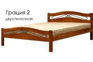 Деревянная кровать Грация 2 двуспиночная - Мебельная фабрика «Массив»