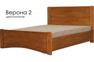 Деревянная кровать Верона 2 - Мебельная фабрика «Массив»