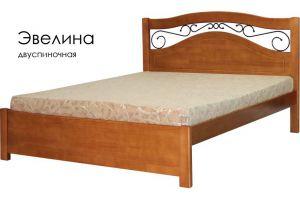 Деревянная с ковкой кровать Эвелина - Мебельная фабрика «Массив»