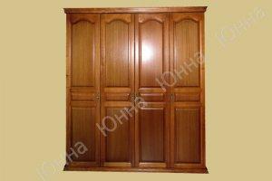 Деревянный распашной шкаф - Мебельная фабрика «ЮННА»