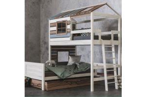 Детская 2х ярусная кровать для 2х детей Твин & Джой - Мебельная фабрика «Mamka»