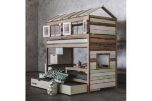 Детская 2х ярусная кровать-домик Шале - Мебельная фабрика «Mamka»