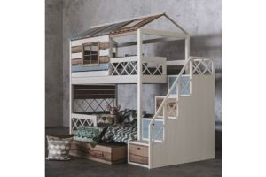 Детская 2х ярусная кровать Твин Прованс - Мебельная фабрика «Mamka»