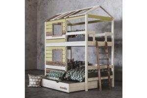 Детская 2х ярусная кровать Твин Ромашка - Мебельная фабрика «Mamka»