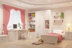Детская белая Итальянский мотив - Мебельная фабрика «Крафт»