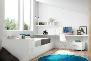 Детская белая Оригами 2 - Импортёр мебели «Piccoly»