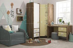 Детская Boho серии Mini print - Мебельная фабрика «Клюква»