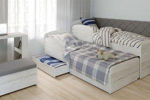 Детская Бриз с выдвижной кроватью - Мебельная фабрика «Сканд-Мебель»