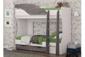 Детская двухъярусная кровать Дельфин - Мебельная фабрика «КБ-Мебель»