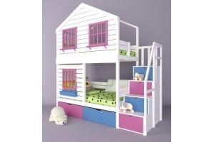 Детская двухъярусная кровать-домик Микки-2 - Мебельная фабрика «RuLes»