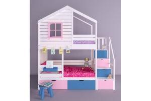 Детская двухъярусная кровать-домик Микки - Мебельная фабрика «RuLes»