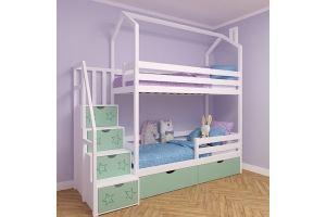 Детская двухъярусная кровать-домик Симба с крышей - Мебельная фабрика «RuLes»