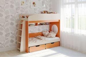Детская двухъярусная кровать Легенда 10.2 - Мебельная фабрика «Легенда»