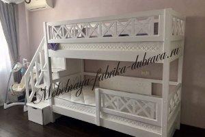 Детская двухъярусная кровать Прованс с ящиками - Мебельная фабрика «Дубрава»