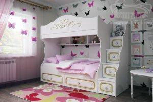Детская двухъярусная кровать София 2 - Мебельная фабрика «Ваш День»