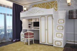 Детская двухъярусная кровать София 3 - Мебельная фабрика «Ваш День»