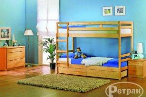 Детская двухъярусная кровать тип 5 - Мебельная фабрика «Ретран»