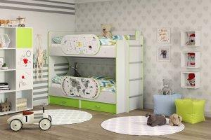 Детская двухъярусная кровать Умка - Мебельная фабрика «ТМК (Техномебель)»