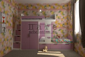 Детская Элли для двух девочек - Мебельная фабрика «Пате»