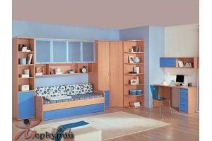 Детская голубая Анжела 1 - Мебельная фабрика «Меркурий»