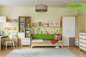 Детская Индиго в цвете Имбирь  - Мебельная фабрика «38 попугаев»