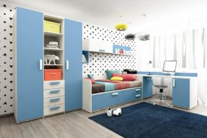 Детская Junior Капри синий - Мебельная фабрика «Клюква»