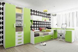Детская Junior Зеленая Мамба - Мебельная фабрика «Клюква»