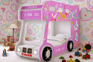 Детская кровать - Автобус Лето  - Мебельная фабрика «Red River»