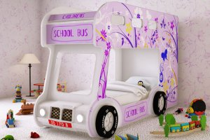 Детская кровать - Автобус Настроение - Мебельная фабрика «Red River»