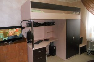 Детская кровать-чердак 15 48 - Мебельная фабрика «Святогор Мебель»