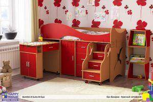 Детская кровать-чердак Bambini 9 suite M - Мебельная фабрика «Happy home»