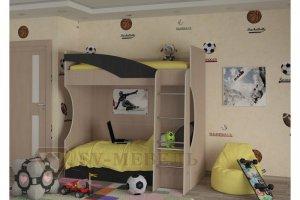 Детская кровать-чердак Бэмби 4 - Мебельная фабрика «SV-мебель»