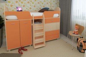 Детская кровать-чердак Караван-9 - Мебельная фабрика «Мульто»