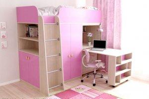Детская кровать-чердак Малинка - Мебельная фабрика «Ольга»