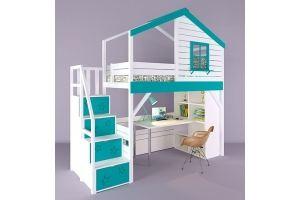 Детская кровать-чердак Микки-2 - Мебельная фабрика «RuLes»