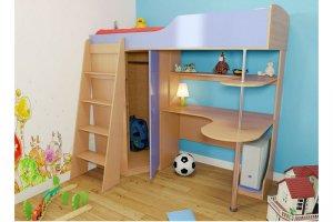 Детская кровать чердак со шкафом - Мебельная фабрика «SaEn»