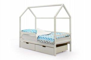 Детская кровать-домик Svogen белый - Мебельная фабрика «Бельмарко»